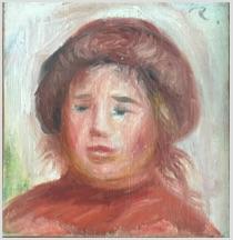 Pierre-Auguste Renoir, Buste de femme, fragment, c. 1912, oil on canvas, 14 x 13.5 cm