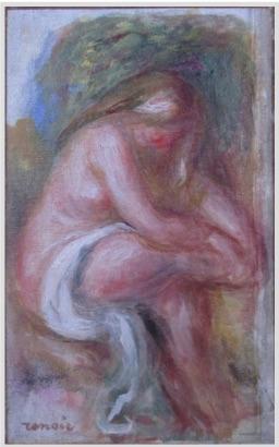 Pierre-Auguste Renoir, Baigneuse, fragment,  c. 1912, oil on canvas, 24.3 x 15.3 cm