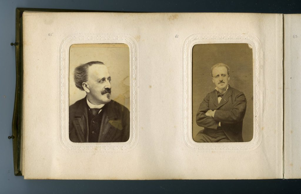 Page from the family album of Paul Ferdinand Gachet [WPI archives]