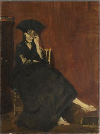 Édouard Manet, Portrait de Berthe Morisot à l'éventail, 1872, oil on canvas, 60.4 x 45.2 cm (Musée d'Orsay, Paris)