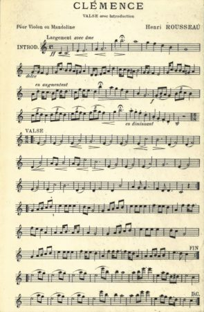 Clémence, valse and introduction for violin and mandolin, 1904, L. Barbarin, Paris