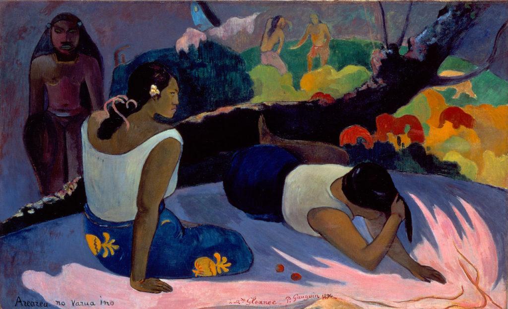 Paul Gauguin, Arearea no Varua ino – Le mauvais Esprit s'amuse, 1894, 60 x 98 cm.
