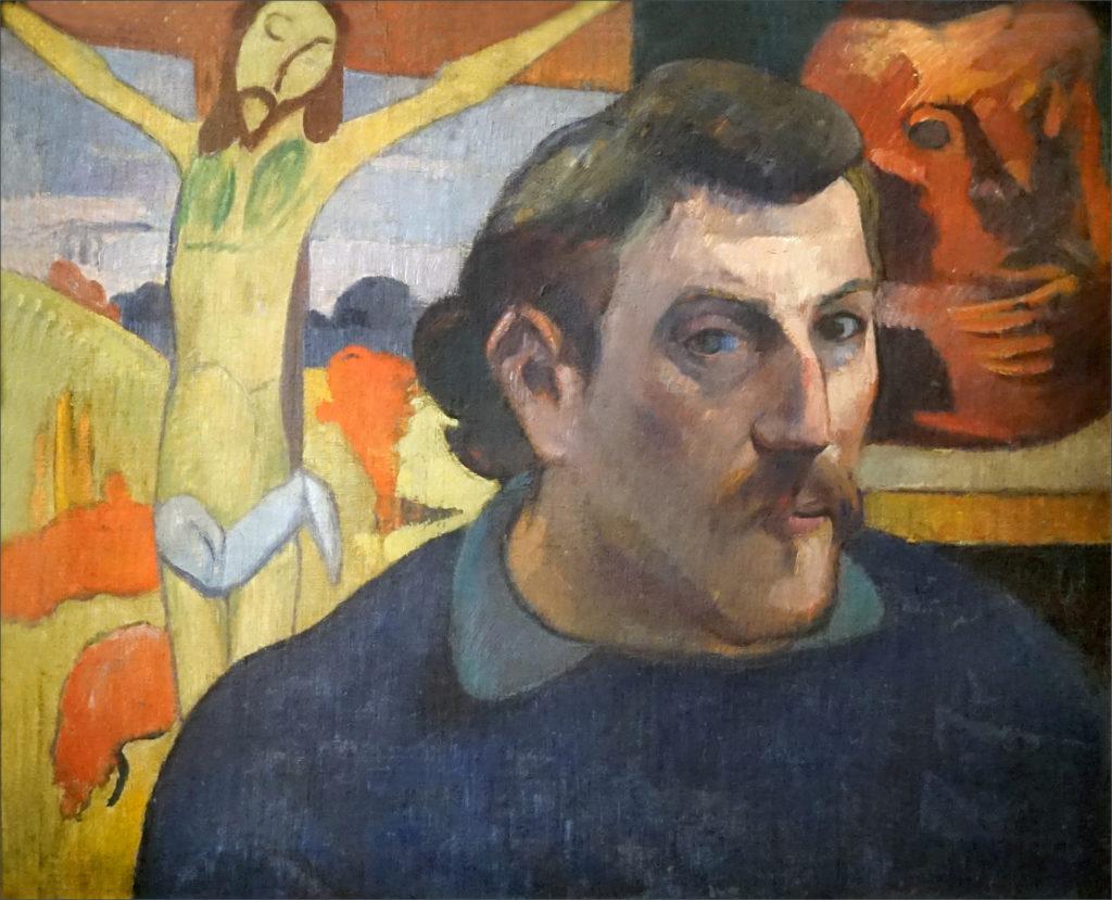 aul Gauguin, Self-Portrait with the Yellow Christ, 1890-1891, 38 x 46 cm. Musée d'Orsay, Paris.